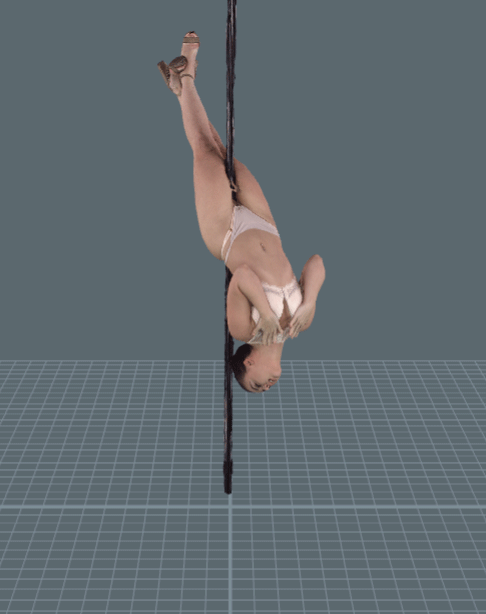 AR girl,strip pole