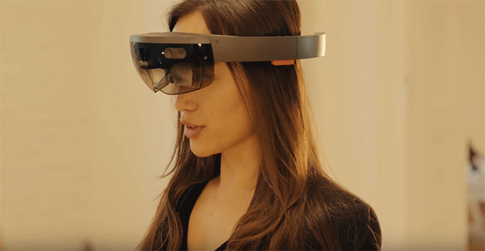 hot woman, microsoft hololens